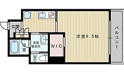 リーサイド豊津[4階]の間取り
