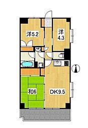 フジプラザマンション[1階]の間取り
