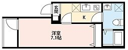 JR高崎線 宮原駅 徒歩4分の賃貸アパート 2階1Kの間取り