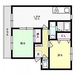 ウィンディア65[2階]の間取り