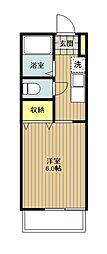 アネルバハイツA[1階]の間取り