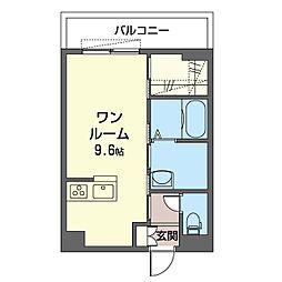 仮)グランド スクエア 津田沼 3階ワンルームの間取り