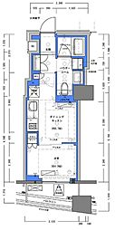 JR山手線 神田駅 徒歩4分の賃貸マンション 3階1DKの間取り