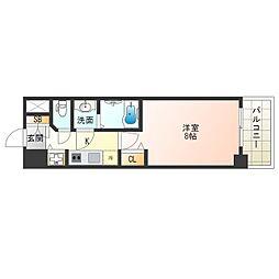 JR大阪環状線 野田駅 徒歩7分の賃貸マンション 13階1Kの間取り