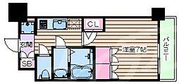おおさか東線 JR淡路駅 徒歩6分の賃貸マンション 13階1Kの間取り