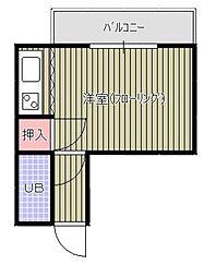 平井ビル[303号室]の間取り
