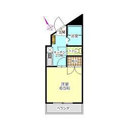ヒサオコーポ[3階]の間取り