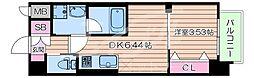 Osaka Metro御堂筋線 江坂駅 徒歩7分の賃貸マンション 7階1DKの間取り