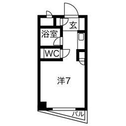 PLEAST飯倉[203号室]の間取り