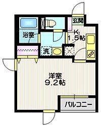 京王井の頭線 東松原駅 徒歩5分の賃貸マンション 1階1Kの間取り