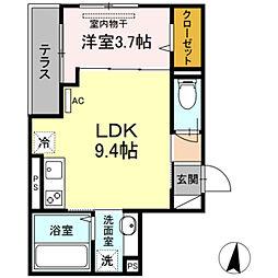 ルミエール 3階1LDKの間取り