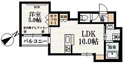 MONOLITH 2階1LDKの間取り