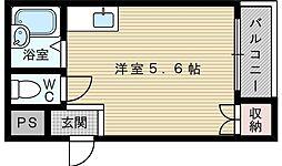 シティハイツ輝[3階]の間取り