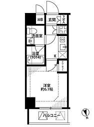プレールドゥーク銀座EASTII[7階]の間取り