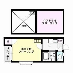 メゾネット桜ヶ丘[101号室]の間取り