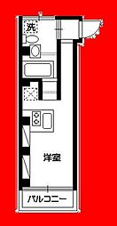 haramo cuprum 5階ワンルームの間取り
