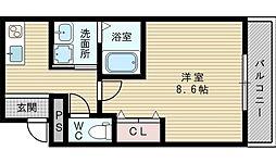 フジパレス淡路3番館[3階]の間取り