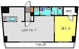 ヒストリアレジデンス海舟[505号室]の間取り