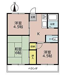 ハイツ西山(横浜市)[1階]の間取り