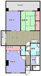 ビッグベアマンション[401号室]の間取り