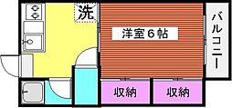 ハイツサチII[202号室]の間取り