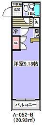 ローズガーデンA52[208号室]の間取り