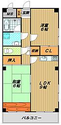 浜田ビル[5階]の間取り