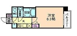 プレサンス梅田東アルファ[2階]の間取り