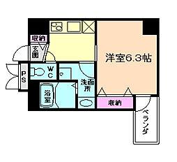 大阪府大阪市北区中崎西3丁目の賃貸マンションの間取り