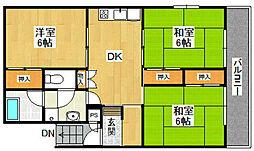 ライフ・モア飯倉(旧 品川ビル)[405号室]の間取り