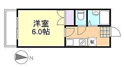 プリード倉敷[1階]の間取り
