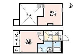 bright maison(ブライトメゾン)[1階]の間取り