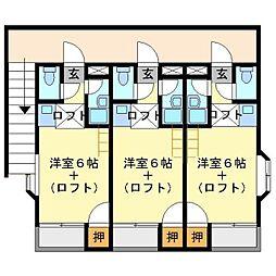 プライベートハウス[203号室]の間取り