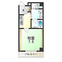 TOYOTOMI STAY PREMIUMNAGAHASHI 2階1Kの間取り