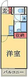京成本線 京成佐倉駅 徒歩7分の賃貸マンション 1階1Kの間取り