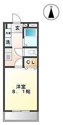 愛知県豊田市渡刈町4丁目の賃貸アパートの間取り