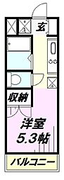 埼玉県所沢市東狭山ケ丘1丁目の賃貸マンションの間取り