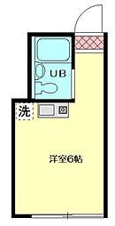 東京都荒川区東日暮里3丁目の賃貸アパートの間取り