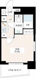 都営新宿線 一之江駅 徒歩9分の賃貸マンション 2階1Kの間取り