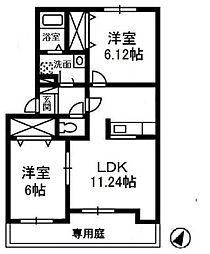 ジョイラックス D[1階]の間取り