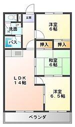 アビタシオン酒井[3階]の間取り