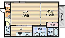 ミモザコート[3階]の間取り