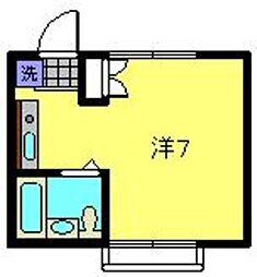 神奈川県横浜市金沢区釜利谷東4丁目の賃貸アパートの間取り