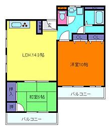 ときわ新神戸レクラン[5階]の間取り