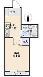 シャトレ武蔵野[A号室]の間取り
