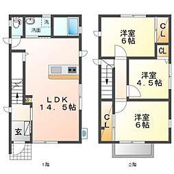 仮称)炭家花田町A棟 1階3LDKの間取り
