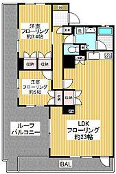 東京都杉並区松庵1丁目の賃貸マンションの間取り
