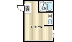 青山ハイツ淡路[4階]の間取り