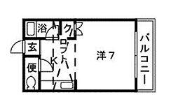 サンコーポ新宮[205号室]の間取り