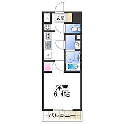 Osaka Metro千日前線 北巽駅 徒歩7分の賃貸マンション 8階1Kの間取り